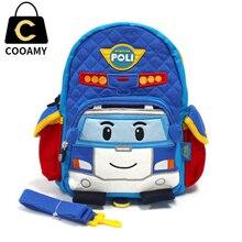 Kindergarten Printing Backpack For Teenagers School Bag Children Cute Schoolbag Canvas Boy Rucksack Cartoon Car Kids