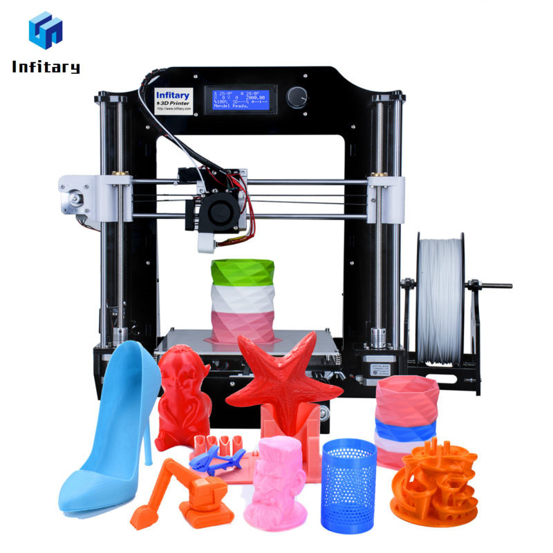 Infitary impresora 3D Kits 2017 Newest Upgrated Printer Large Size 3d Printer With 80M PLA filaments High Quality 2017 newest high quality shenzhen yite dual extruder 3d printer with upgraded version motherboard free abs pla filaments