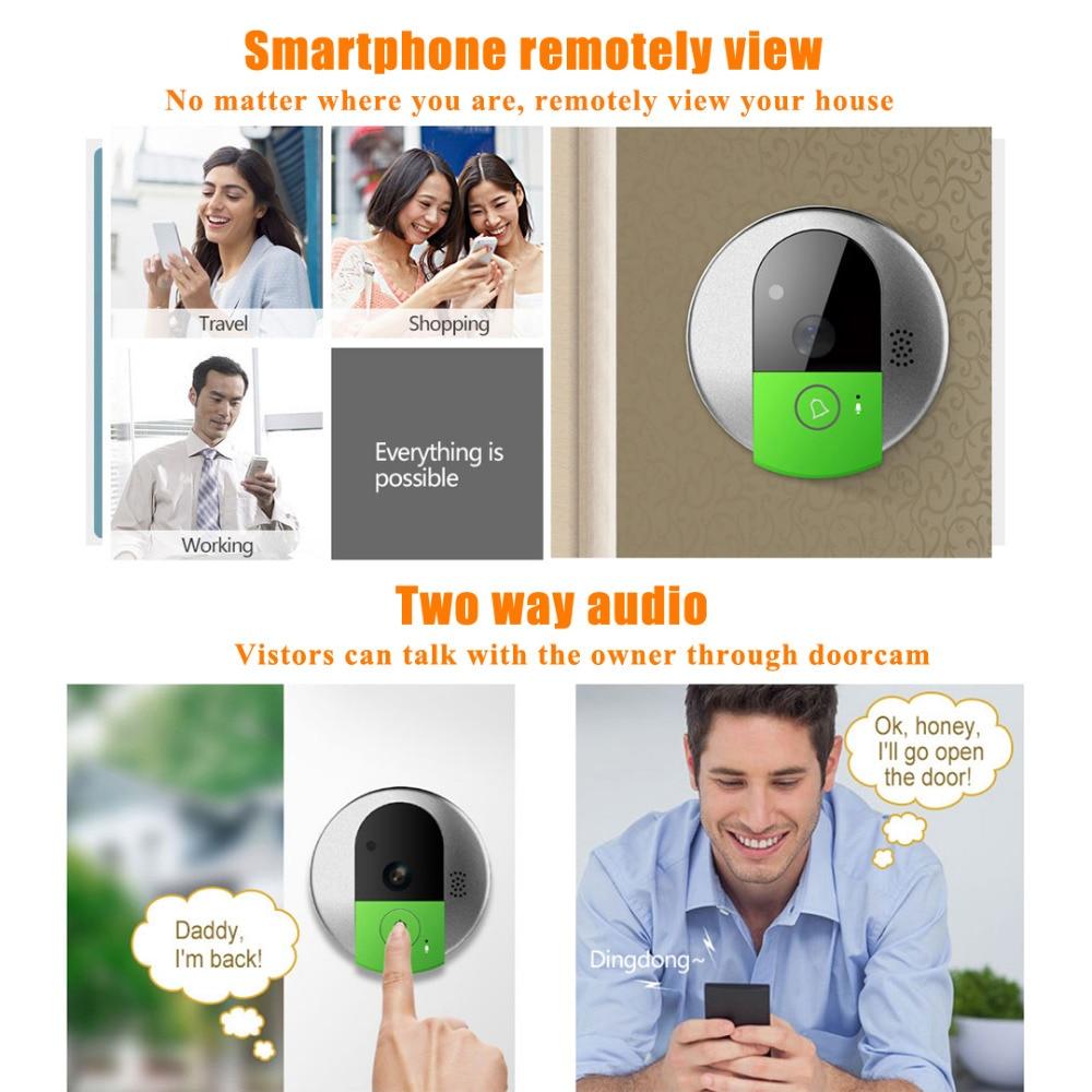 Image 3 - VStarcam C95 HD 720P Wireless WiFi Security IP Door Camera Night Vision Two Way Audio Wide Angle Video Doorcam  Cam-in Doorbell from Security & Protection