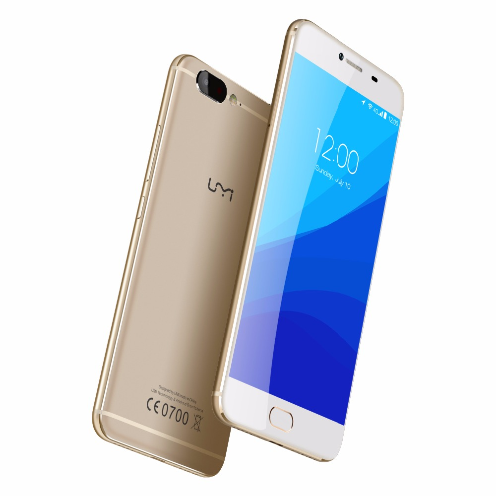 "UMI Z 4G Deca Core Mobile Phone 5.5"" 1080P FHD MTK Helio X27 Android 6.0 4GB RAM 32GB ROM 13MP+13MP Front Touch ID Cellphone"