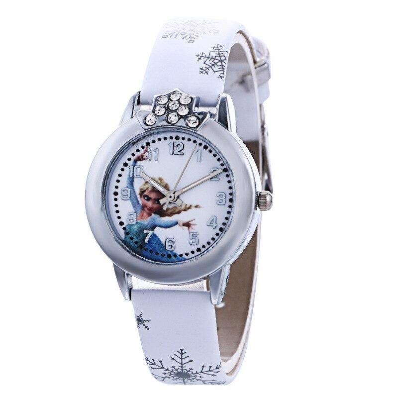 Fashion Brand Cute Kids Quartz Watch Children Girls Leather Crystal Bracelet Cartoon Wrist Watch Wristwatch Clock 8a04 #4