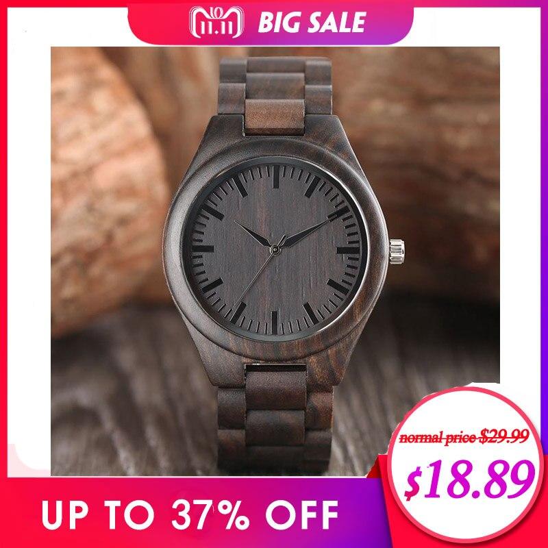 все цены на Creative Full Natural Wood Male Watches Handmade Bamboo Novel Fashion Men Women Wooden Bangle Quartz Wrist Watch Reloj de madera