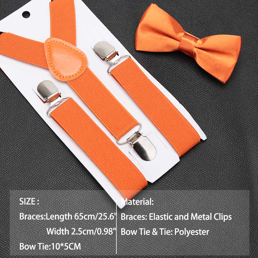 Детские подтяжки с галстуком-бабочкой; модный детский комплект с галстуком-бабочкой; подтяжки для мальчиков и девочек; регулируемые подтяжки; Детские свадебные галстуки; аксессуары