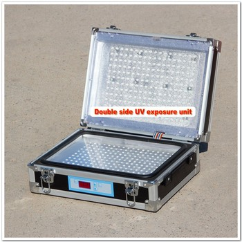 Double Side UV Exposure Box Machine A4 Size for Plate Making LED Bulbs New Model