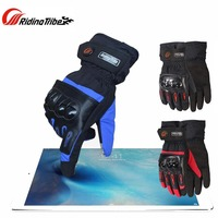 2017 New Riding Tribe Motorcycle Gloves Winter Warm Waterproof Motorbike Racing Glove Black Blue Red 3