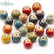 6 8 10mm Mixed Colour Glazed Ceramic Round Beads for Jewelry Making Bracelet Earrings DIY Accessories Floral Porcelain BeadsT800