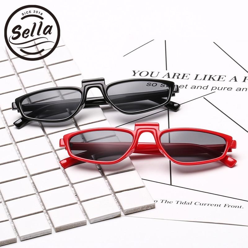 175707ad419 Sella 2018 Trending Women Small Square Sunglasses Popular Men Narrow  Rectangle Sun Glasses Fashion Unique Summer Eyewear-in Sunglasses from  Apparel ...
