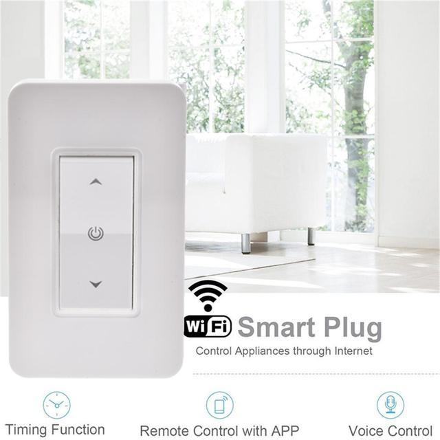 Wifi Light Switch Push On Work Key Smart Dimmer Support Alexa And Google Home Voice Control
