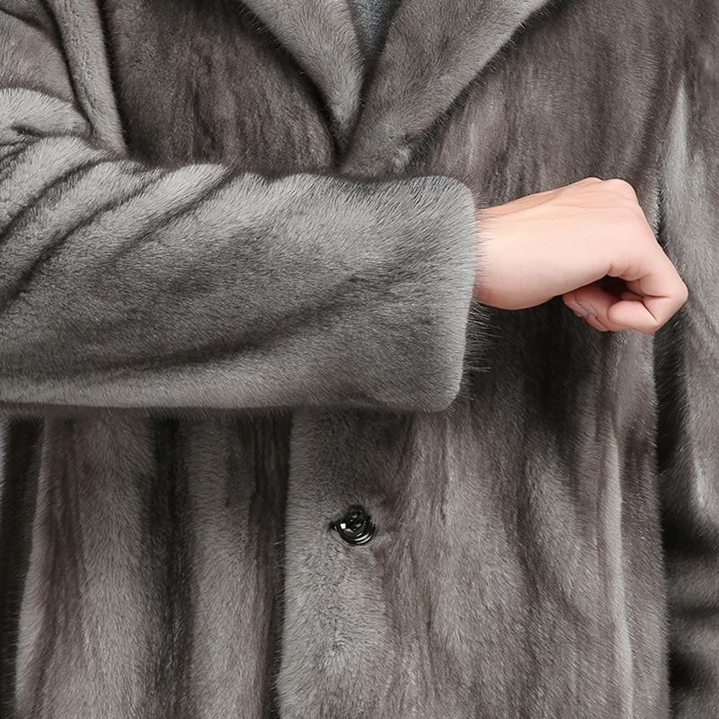 Manteaux Nouvelle De Hiver Hommes Imitation Longue Homme Vison Faux Fourrure Tranchée S Mode Vêtements 6xl D'hiver Manteau Mâle aq5Up