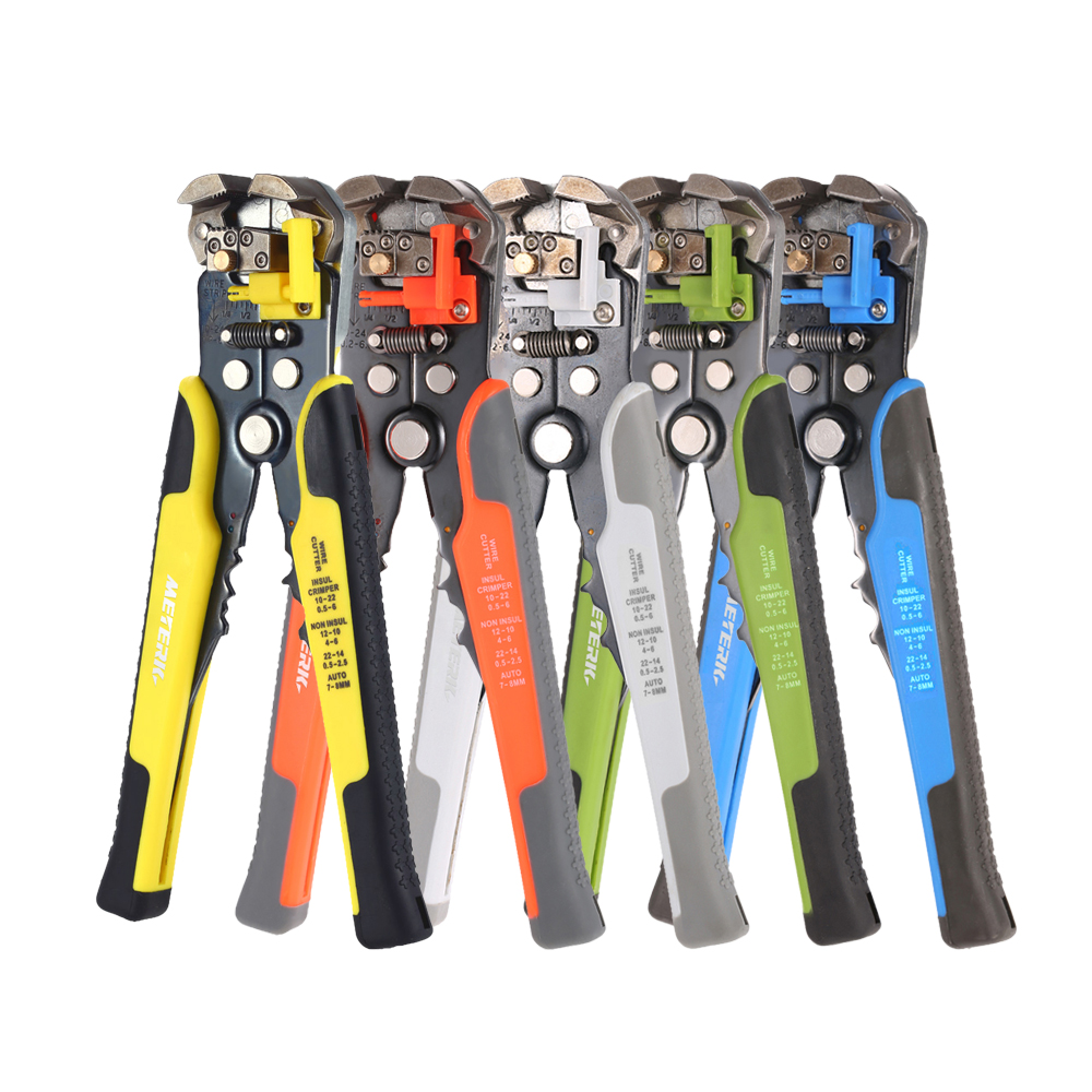 Meterk multi tool Cable Wire Stripper Automatic Crimping Tool Peeling Pliers Adjustable Terminal Cutter Wire multitool Crimper newacalox multifunction self adjustable terminal tool kit wire stripper crimping pliers wire crimp screwdriver with tool bag