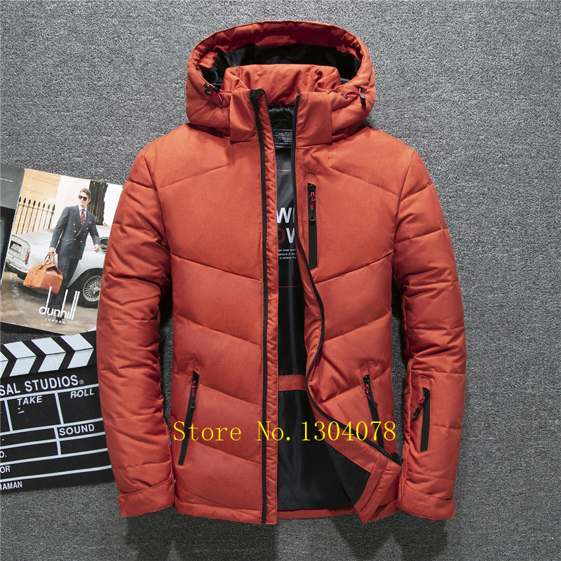 2019 New 90% White Duck   Down   Jacket Men Windbreakers Thicken High Quality Men's   Down     Coats   Fashion Design Snow Overcoat For Male