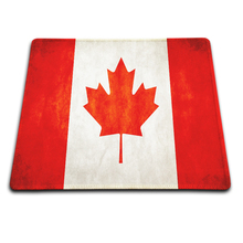 2016 Top Selling High Quality Canada Flag Rubber Soft Gaming Mouse Games Black Mouse pad Comfort Non-Skid Rubber Durable Pad