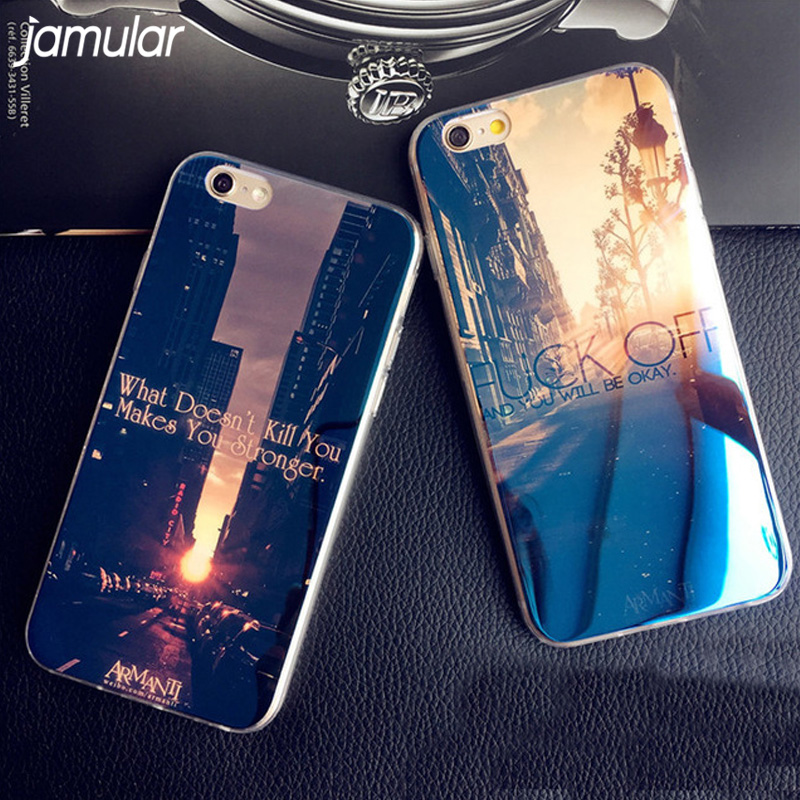 JAMULAR <font><b>Blu-ray</b></font> Soft TPU Case For iPhone 7 6 6s Plus Silicone Rubber <font><b>Skin</b></font> Cover for iPhone 6 6s 8 Plus 5 5s SE Cases Fundas