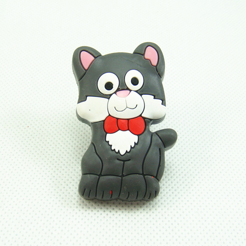 Экологичные милый мультфильм Серый кот дети Мебель Спальня ящике комода ручки кабинет ручки