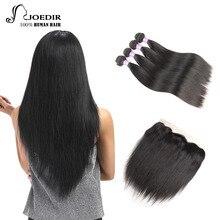 hot deal buy  joedir malaysian hair bundles with closure straight hair 4 bundles with closure non remy bundles with lace closure