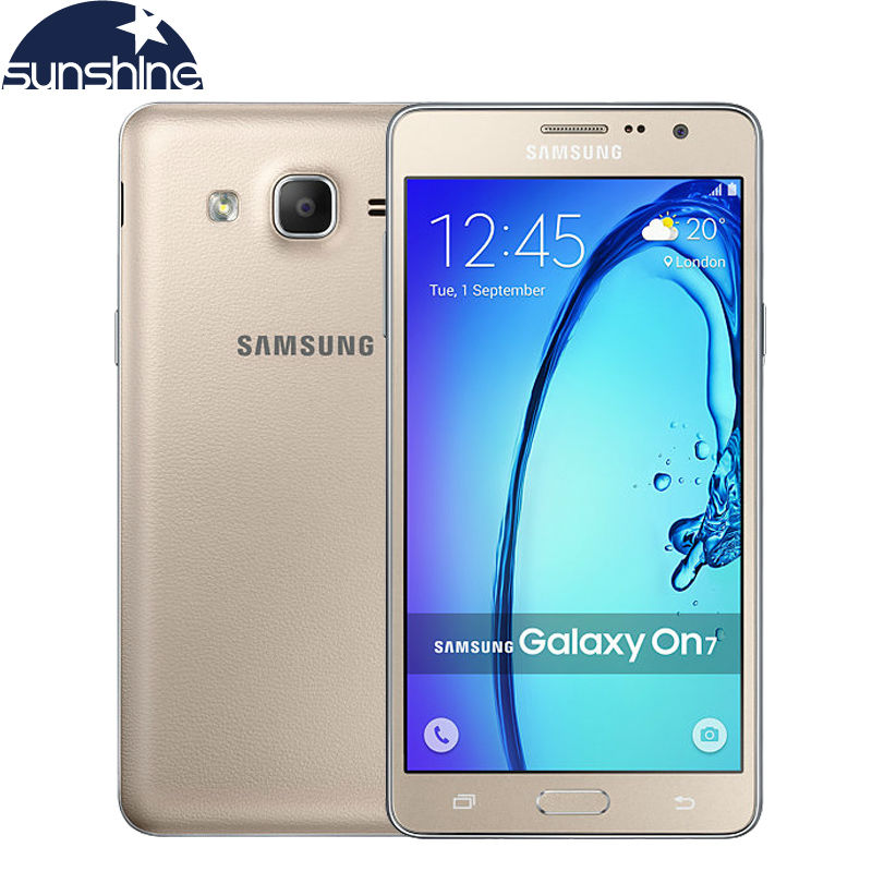 Original Unlocked Samsung Galaxy On7 G6000 Mobile Phone Quad Core 5.5''13MP 4G LTE Android phone 1280x720 Dual SIM Smartphone