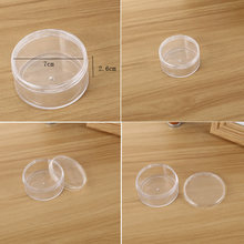 Transparent Round Cap Bottle Plastic Storage Empty Bottle Cream Box Jewelry Storage Case Nail Art For Manicure Plastic Storage(China)