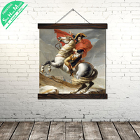 Napoleon Riding Horse Vintage Posters and Prints Scroll Painting Canvas Wall Art Pictures Farme Canvas Painting Home Decoration
