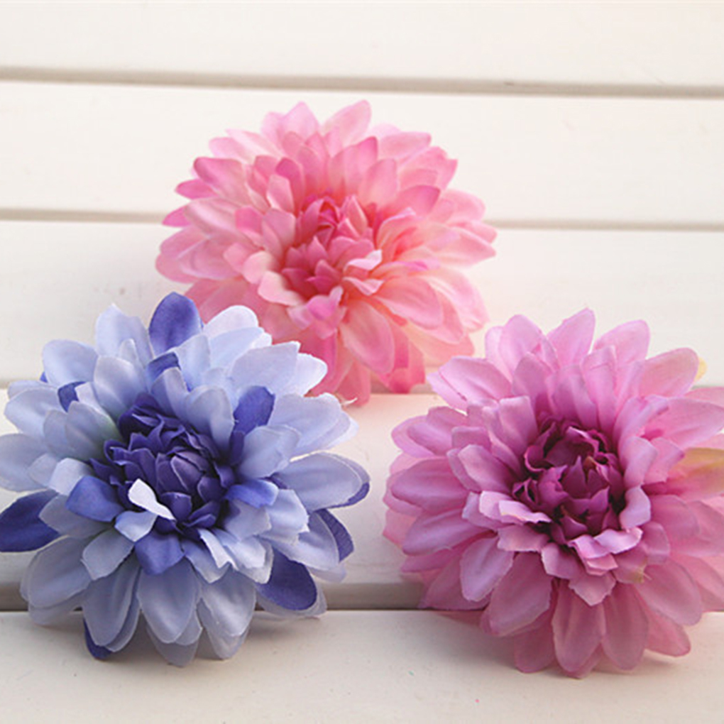 Compare prices on artificial daisy flower heads online shopping new style 10pcs 10cm silk artificial daisy bud flowers head wedding diy wreath gift craft dhlflorist Gallery