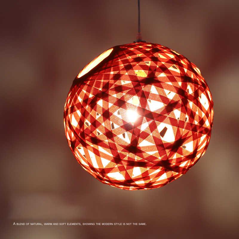 JAXLONG DIY ткань Led E27 подвесные светильники для изостудию Гостиная Ресторан