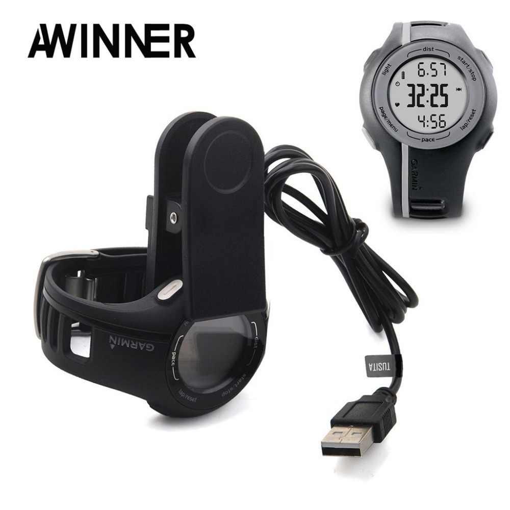 AWINNER Зарядное устройство Usb кабель для Garmin Forerunner 110 210/S1 Смарт-часы Быстрая зарядка клип заменитель адаптера
