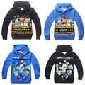 Ropa de los muchachos niños de dibujos animados capa de cinco noches en freddy clothing manga larga invierno de los cabritos ropa de los hoodies # d