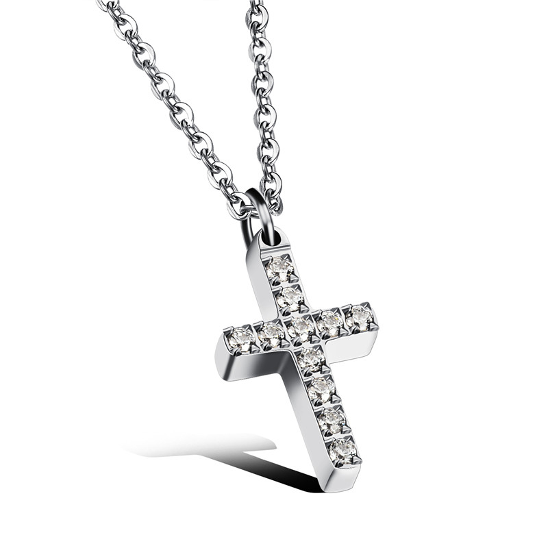 Adisaer Gold Plated Pendant Necklaces for Women Cubic Zirconia Line Bead White Gold