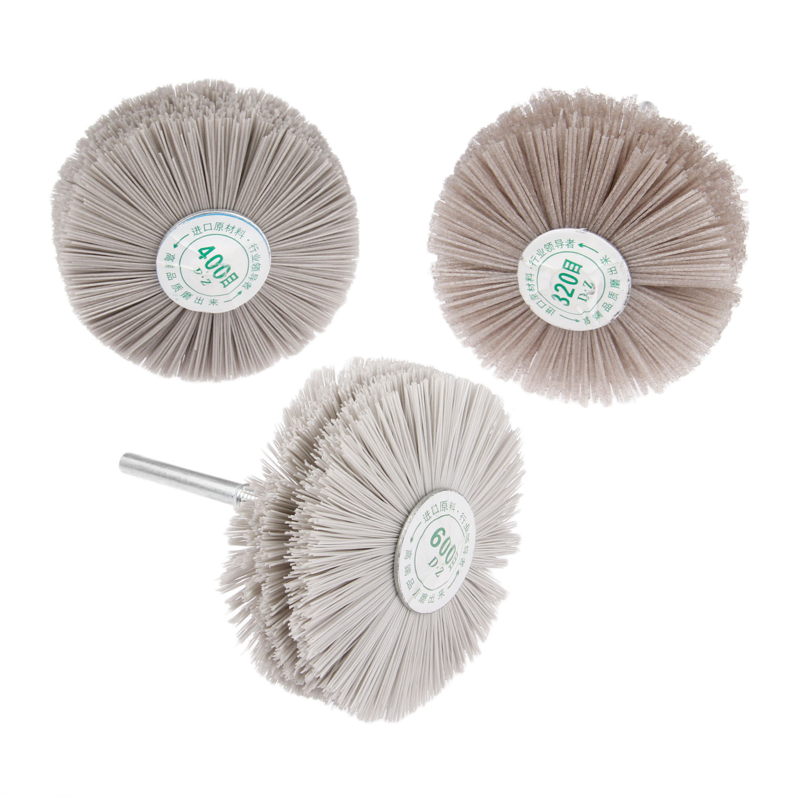 DRELD 3Pcs Dremel Accessories Nylon Wheel Brush Wood Metal Polishing Buffing Grinding Wheel 320 400 600 for Drill Rotary Tool in Abrasive Tools from Tools