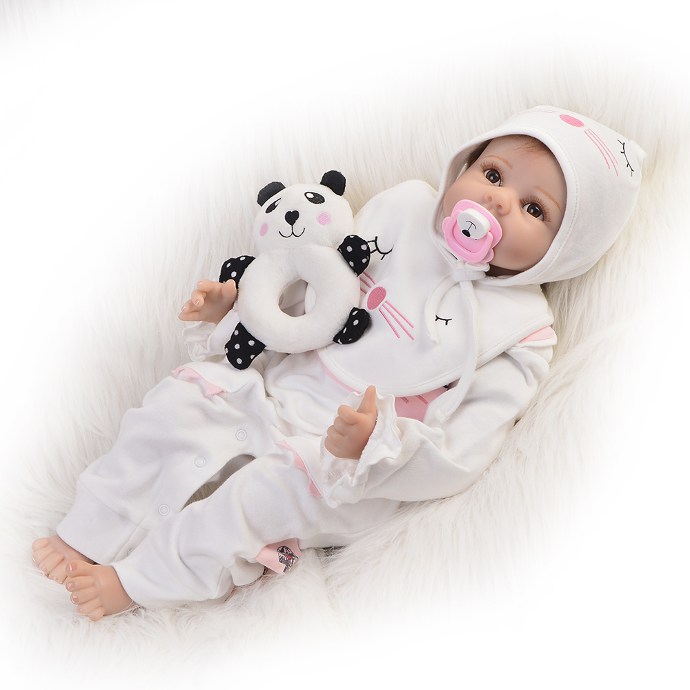 Wholesale 22 Bebe Reborn Dolls Toy Silicone Vinyl Realistic Newborn Doll 55 cm Cloth Body Reborn Birthday Gift Girl Playmates handmade chinese ancient doll tang beauty princess pingyang 1 6 bjd dolls 12 jointed doll toy for girl christmas gift brinquedo