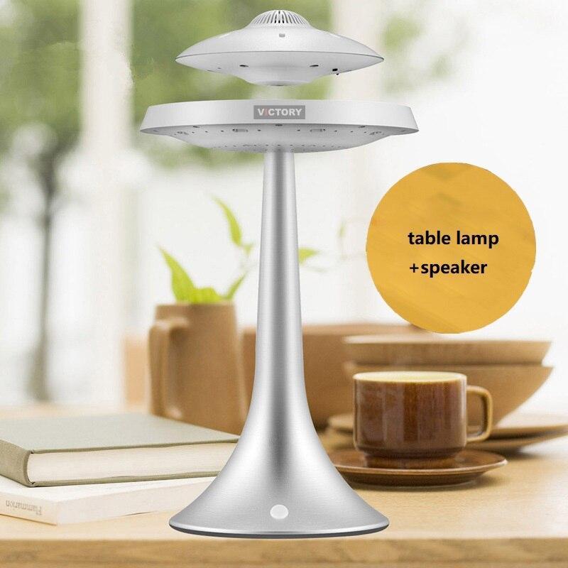 Новинка НЛО Магнитная подвеска Смарт Bluetooth динамик настольная лампа Изменение Цвета Беспроводной левитирующий Bluetooth настольная лампа - 2