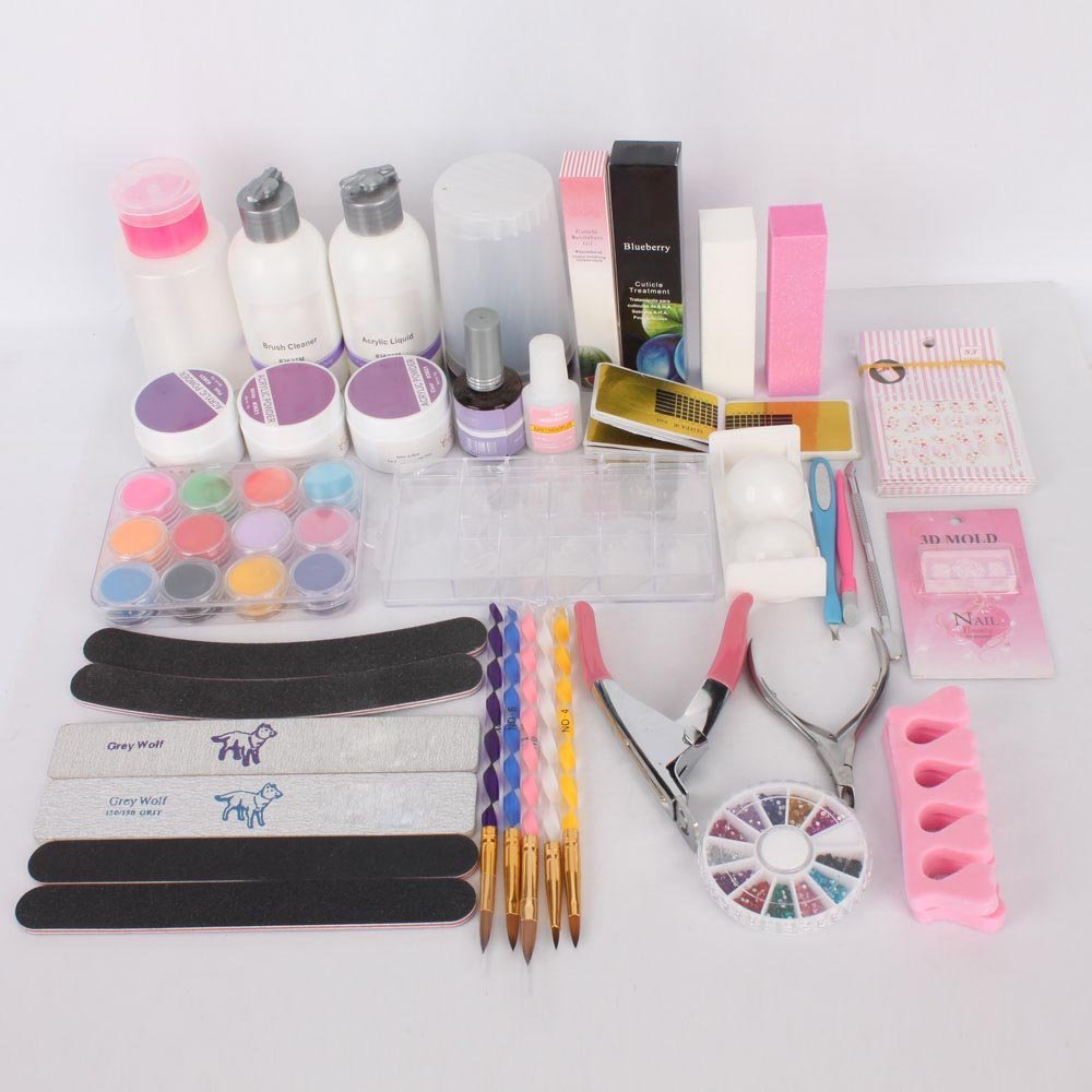 Professional Acrylic Nail Set Manicure Tools Or Uv Gel With Diy