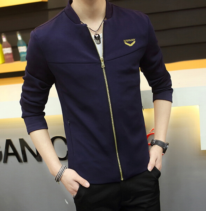 Men's Clothing Navy blue Outerwear & Coats Black Jackets Man coats leisure jacket thin slim spring Men suit - Love _ Dress store