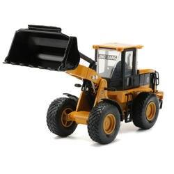JINGBANG 1: 60 Сплав Имитация желтый погрузчик модель грузового автомобиля резиновые шины игрушки мальчики подарок детские игрушки