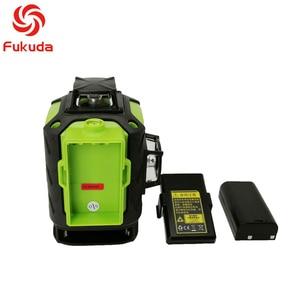 Image 3 - Fukuda 4d nível laser 16 linhas verde nível laser automático auto nivelamento 360 vertical & horizontal tilt & modo ao ar livre
