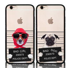 New Cute Bad Dog Phone Case For Apple iPhone 6 6s Plus 5 5s SE Funny Animal Soft Silicon Frame Protective Shell Cover Phone Bags