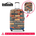 Famous Brand Brick Wall Printing Travel Trolley Luggage Cover Elastic Waterproof 18 to 30 Inch Protection baggage Cover Thick