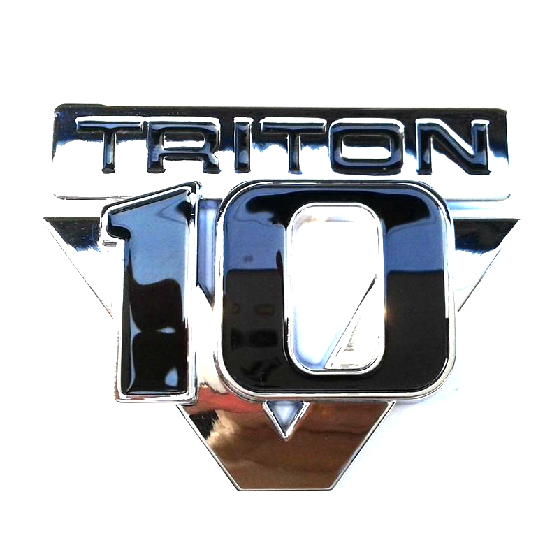 100PCS / LOT ABS Gratis frakt Triton V10 Emblem Badge