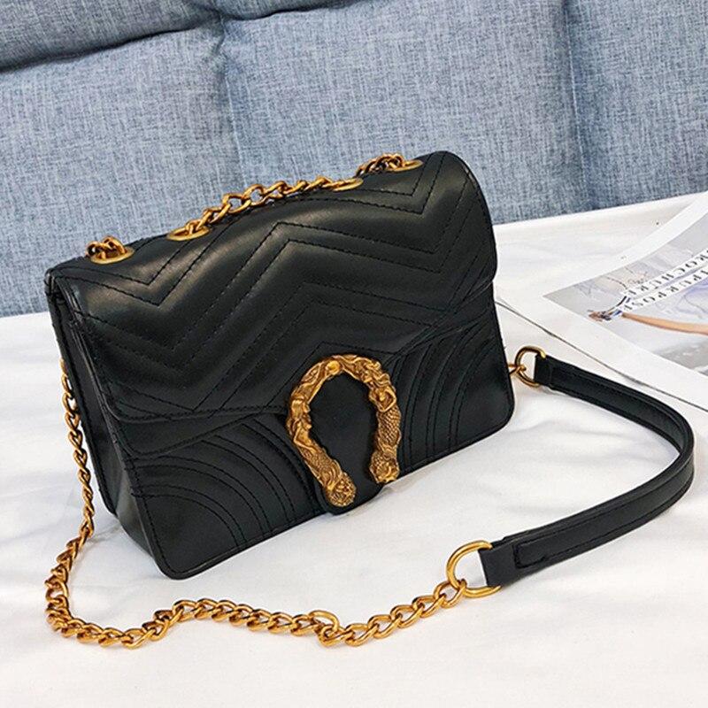 Luxury Fashion Women Gold Chain Shoulder Messenger Bag Vintage Female Bag/Handbag Lady Clutch Motorcycle Bags Louis Channels Bag стоимость