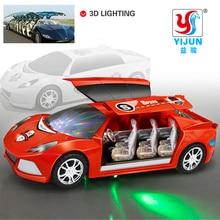 Hot Sale 3D Blinkande Led Light Music Bil Elektriska Leksak Bilar Barn Leksak Barn Present Dyscast Toy Vehicles