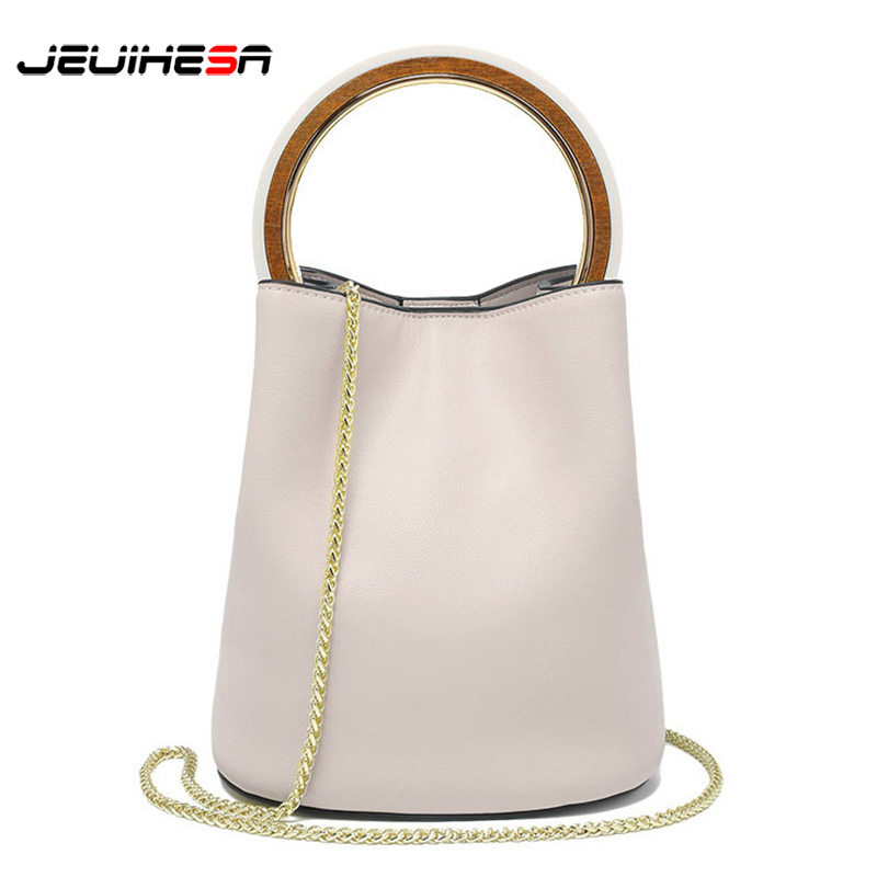 Fashion Ladies' Genuine Leather Handbag Women Bag Ring Chains Messenger Bags For Women 2018 Shoulder Bag Female Small Handbag недорго, оригинальная цена