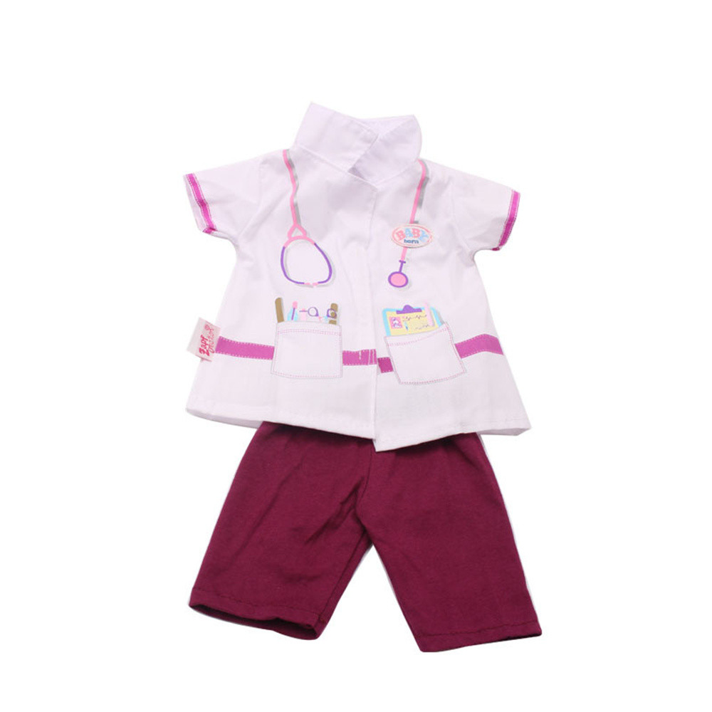 Baby Born Cool Fashion Doll Doctor Nurse Clothes And Trouser Set For 18 Inch American Girl Doll