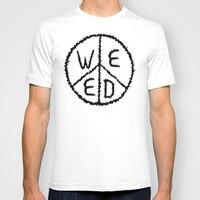 Men Summer Short Sleeves T Shirt WEED Casual Plain White T Shirt Men Clothing