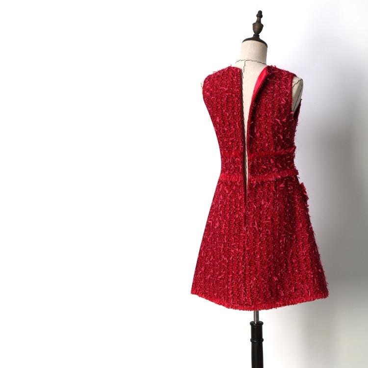 새로운 여름 믹서 아름다움은 그의 큰 이름을 누워 패션 빨간 민소매 드레스 정장 기질 도덕을 육성-에서드레스부터 여성 의류 의  그룹 3