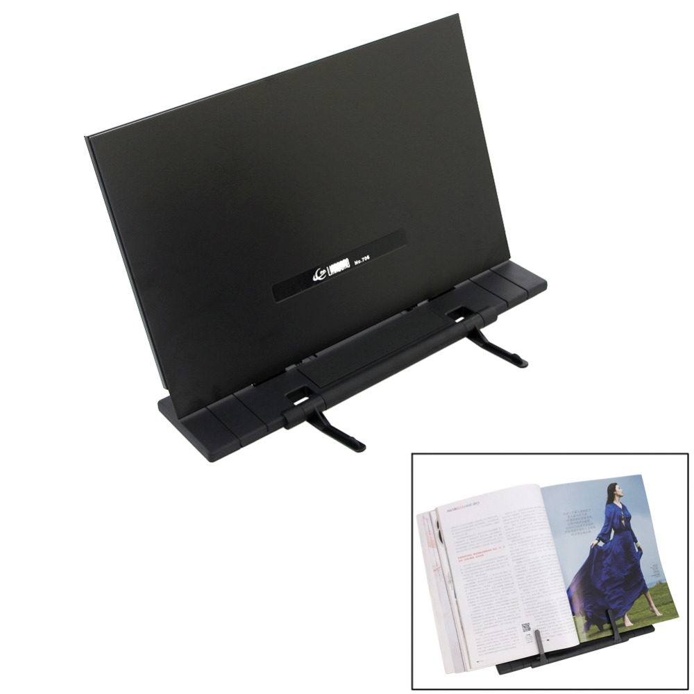 Hogar Paradise New Fashion Portable Adjustable Folding Tablet Steel Book Document Stand Reading Desk Holder Bookstand Holder YX# vividcraft 1pc portable adjustable folding tablet book holder for reading decorative bookends office desk holder tilt bookstand