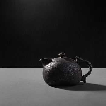 China rusty glaze ceramic handmade teapot tea pot porcelain archaize Kung Fu tea set crude pottery teaware vintage tea service