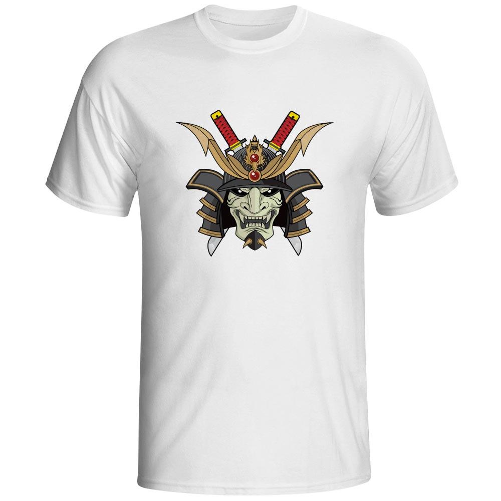 Dragon Evil Warrior T-shirt Japanese Samurai Anime Armor Katana Rock Creative T Shirt Design Punk Skate Women Men Top