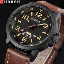 Marca superior de luxo curren masculino esportes relógios militar do exército dos homens relógio quartzo couro masculino relógio à prova dwaterproof água relogio masculino