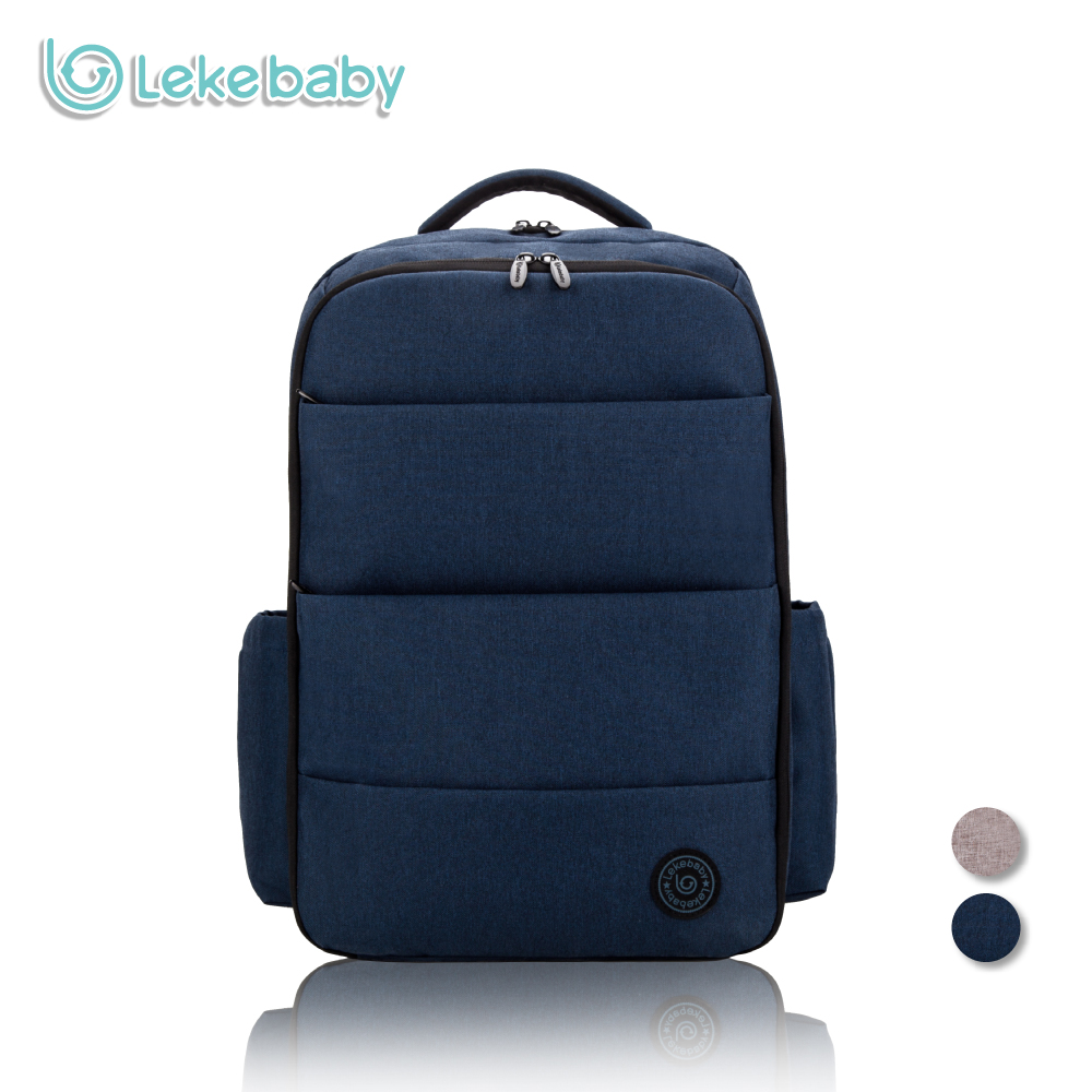lekebaby diaper bag backpack super capacity dad bag for baby care with baby stroller hook in. Black Bedroom Furniture Sets. Home Design Ideas