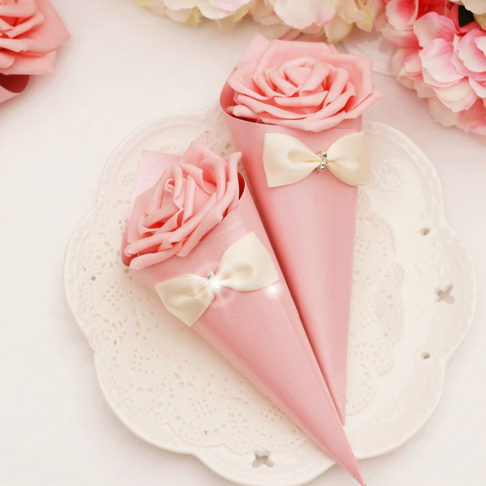 100 x Blue/Green/pink Cones Holder white/purple Rose Ice Cream DIY ...
