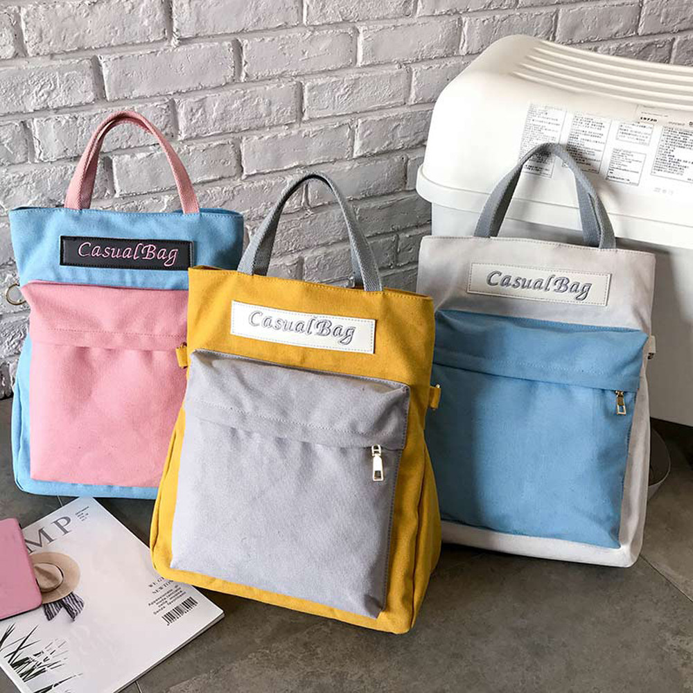 2019 fashion backpack Couple Schoolbag Travel Hiking Bag Color Block Backpack Collection Luminous Bag mochila bts#25(China)